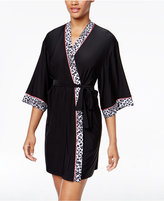 Thalia Sodi Leo Contrast-Trimmed Wrap Robe, Only at Macy's