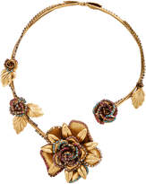 Erickson Beamon Vermeil Bouquet 24K Gold-Plated Crystal Necklace