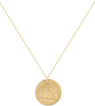Electric Picks Coin Pendant Necklace
