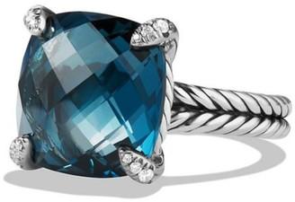 David Yurman Chatelaine Ring with Gemstone & Diamonds/14mm