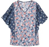 Pepe Jeans Mix Floral Print Blouse with Ruffles