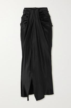 Michael Lo Sordo Hosk Draped Silk-satin Maxi Skirt - Black
