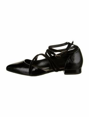 Lanvin Patent Leather D'Orsay Flats Black