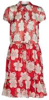 Armani Collezioni Silk Chiffon Print Dress