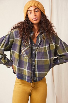 We The Free Emily Plaid Top