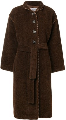 Yves Saint Laurent Pre Owned 1990's Long Belted Coat