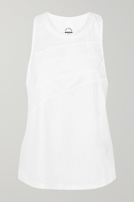 The Upside Track Perforated Stretch-jersey Tank - White