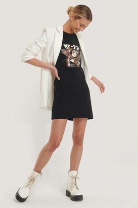 NA-KD Bird Print T-Shirt Dress