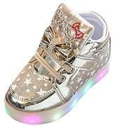 AMA(TM) Toddler Kids Baby Sport Sneakers Star Luminous Colorful Light Shoes