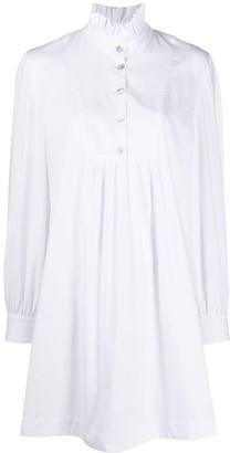 ALEXACHUNG Long-Sleeve Flared Shirt Dress