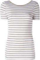 MICHAEL Michael Kors striped T-shirt - women - Polyester/Spandex/Elastane/Viscose/metal - M