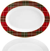 222 Fifth Wexford Plaid Oval Platter