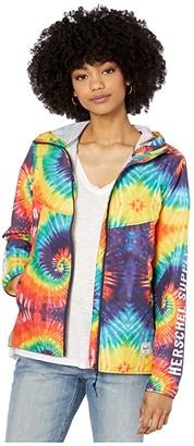 Herschel Packable Wind (Sleeve Print Rainbow Tie-Dye) Women's Clothing