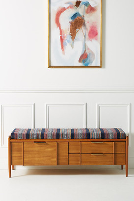 Anthropologie Quincy Storage Bench By in Brown Size ALL