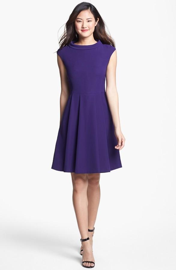 Vince Camuto Fit & Flare Dress (Regular & Petite)