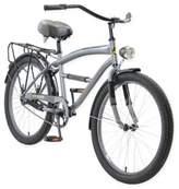 Body Glove Greystone 24-Inch Boy's Cruiser Bicycle in Grey
