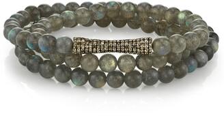 Sheryl Lowe 3-Row Labradorite Wrap Bracelet