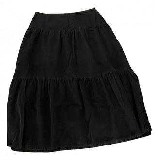Benetton Black Cotton Skirt for Women