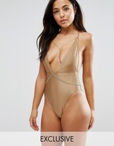 Wolfwhistle Wolf & Whistle Plunge Swimsuit With Removable Chain B-F Cup