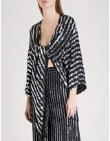 Temperley London Neri sequinned kimono jacket