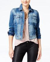Jessica Simpson Angela Navy Wash Denim Jacket