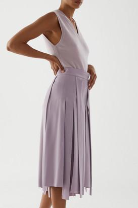 Cos Pleated Asymmetric Skirt
