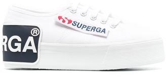 Superga Logo-Patch Platform Sneakers