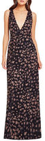BCBGeneration Printed Surplice Maxi Dress