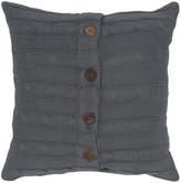 "Rizzy Home Cable Knit Decorative Pillow, 18 x 18"", Gray"