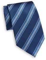 Saint Laurent Striped Silk Tie