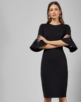 Ted Baker Lace Sleeve Bodycon Dress