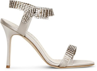 Manolo Blahnik Bashifa jewel satin sandals