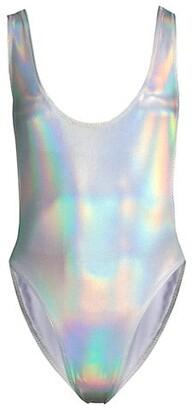Norma Kamali Marissa Hologram One-Piece Swimsuit