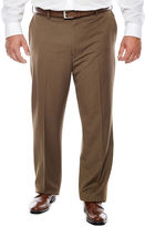 JCPenney Stafford Year-Round Flat-Front Pants-Big & Tall