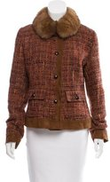 Dolce & Gabbana Faux Fur-Accented Tweed Jacket