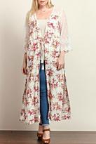 Tassels N Lace Long Floral Kimono