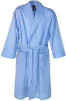 Hanes Men's Lightweight Woven Broadcloth Robe, Medium Large