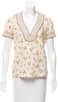 Marc Jacobs Printed Short Sleeve Blouse