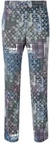 Versace floral cropped trousers - women - Spandex/Elastane/Rayon/Viscose - 38