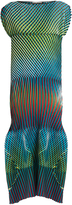 Issey Miyake Prism 2 striped and pleated midi dress