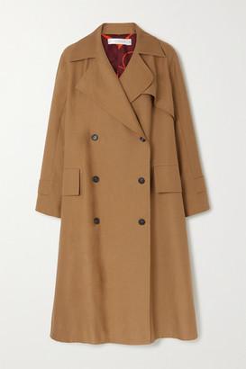 Victoria Beckham Cotton-blend Canvas Trench Coat - Tan