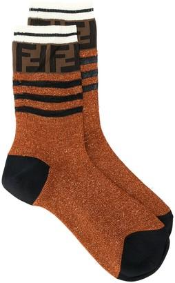 Fendi FF logo glitter socks