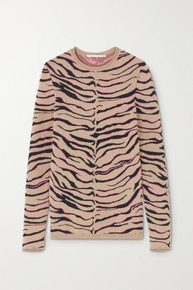 Stella McCartney Jacquard-knit Wool-blend Sweater - Sand