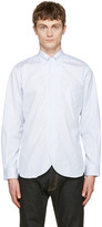 Junya Watanabe Blue Jacquard Stripe Shirt