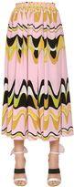 Emilio Pucci Printed Crepe De Chine Midi Skirt