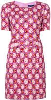 Emilio Pucci floral-check print button waist dress