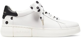 Kate Spade Lift Polka Dot Leather Sneakers