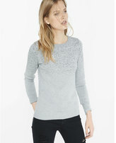 Express metallic ombre fitted crew neck sweater