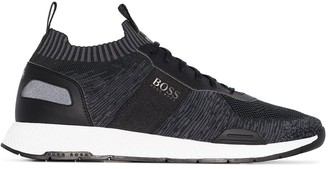 BOSS Titanium knitted sock sneakers