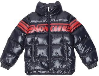 Moncler Enfant Saise logo down jacket